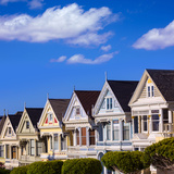 San Francisco Painted Ladies Victorian Houses in Alamo Square at California USA Photographic Print by  holbox
