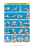 Indian Educational Chart - Yoga Chart Láminas