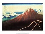 Katsushika Hokusai - Shower Beneath the Summit - Poster