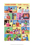 Indian Educational Chart- Women on Work Posters