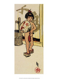 August, 1914, Child with Japanese Fan & Sandals Posters by Helen Hyde
