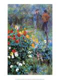 Garden in the rue Cortot Montmartre, 1876 Posters af Pierre-Auguste Renoir