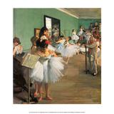 Dance Class, 1873 Plakater af Edgar Degas