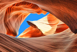 The Blue Sky over the Antelope Slot Canyon, Arizona Photographic Print by  lucky-photographer