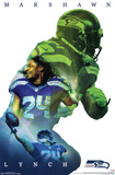 Seattle Seahawks- Marshawn Lynch 2015 Prints