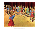 Vintage Classroom Poster- The School Band Posters