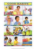 Indian Educational Chart - Good Habits Art