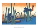 Irises Art by Utagawa Hiroshige