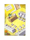 Milk men at sperm bank - Cartoon Premium Giclee Print by John O'brien