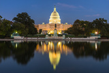 Us Capital Building in Washington Dc, Usa Photographic Print by ANUJAK JAIMOOK