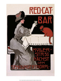 Vintage Poster Advertising Red Cat Bar Prints