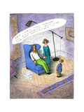 Unreported accident - Cartoon Premium Giclee Print by John O'brien