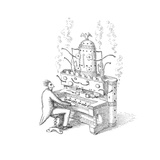 Espresso Organ - Cartoon Premium Giclee Print by John O'brien