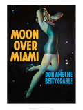 Vintage Movie Poster - Moon Over Miami Art