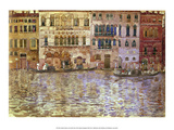 Venetian Palaces on the Grand Canal, 1899 Prints by Maurice Prendergast