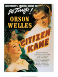 Vintage Movie Poster - Orson Welles in Citizen Kane Prints