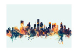 Houston Texas Skyline Photographic Print by Michael Tompsett