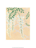 Japanese Textile Woodblock, Wisteria Print