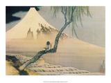 Boy Viewing Mount Fuji Plakater av Katsushika Hokusai