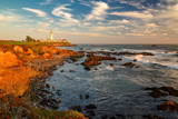 Lighthouse at Sunset, Pigeon Point, California Coast Photographic Print by  lucky-photographer