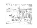 Maize and corn farm - Cartoon Premium Giclee Print by John O'brien