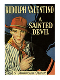 Vintage Movie Poster - Rudolph Valentino in A Sainted Devil Print