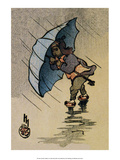 The Blue Umbrella, 1914 Posters by Helen Hyde