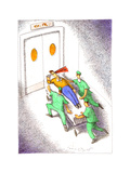 Emergency room patient - Cartoon Premium Giclee Print by John O'brien
