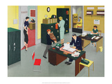 Vintage Classroom Poster - Business at the Office Prints
