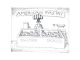 American Pastry - Cartoon Premium Giclee Print by John O'brien