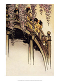 Moon Bridge with Wisteria, 1914 Prints by Helen Hyde