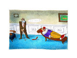 Go on! - Cartoon Premium Giclee Print by John O'brien