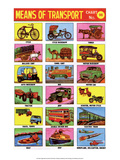 Indian Educational Chart - Means of Transport Prints