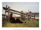 Girl Blowing Dandelion Seeds, 1899 Prints by Laurits Andersen Ring