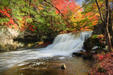 Wadsworth Falls during Autumn Photographic Print by  enfig