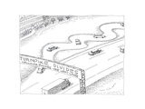 Turnpike Divides - Cartoon Premium Giclee Print by John O'brien