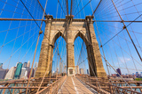 Brooklyn Bridge and Manhattan New York City US USA Photographic Print by  holbox
