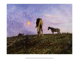 Nightfall, Horses, 1904 Posters by Nils Edvard Kreuger