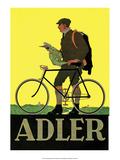 Vintage Bicycle Poster, Adler Póster