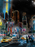 Downtown Lights Giclee Print by Tom Frazier