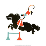 The Circus, Horse & Monkey Rider, 1925 Prints by Vladimir Lebedev