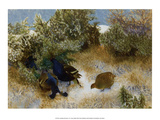 Landscape with Grouse, 1911 Prints by Bruno Liljefors