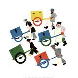 Baggage Handlers Posters by Vladimir Lebedev