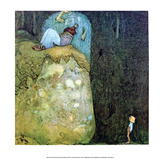 Boy Who Was Not Afraid of Trolls Posters by John Bauer
