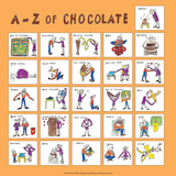 A - Z of Chocolate Posters by Nicola Streeten