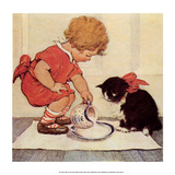 Milk for Kitty Prints by Jessie Willcox Smith