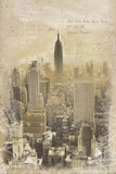 New York Vintage Giclee Print by Tom Frazier