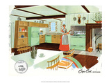 Mid Century Modern Kitchen, Cape Cod Print