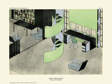 Art Deco French Interior Design Illustrations Poster