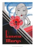 Vintage Art Deco Label, Parfumerie Marys Posters